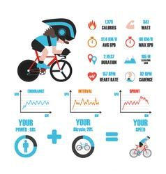 247bike training infographic vector image vector image