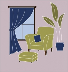 Living room corner vector