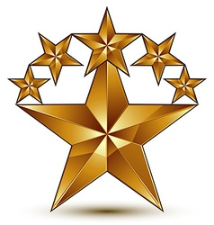 Glamorous template with pentagonal golden star vector