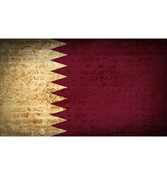 Flags qatar with dirty paper texture vector