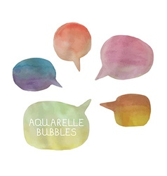 Five watercolor bubbles vector