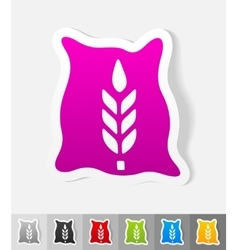 Realistic design element bag of grain vector