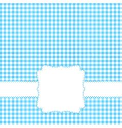 Blank blue card vector