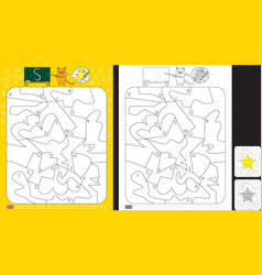alphabet learning worksheet vector image