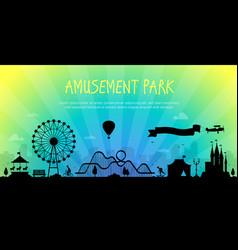 Amusement park - modern vector