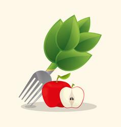 apple vegan food fresh vector image
