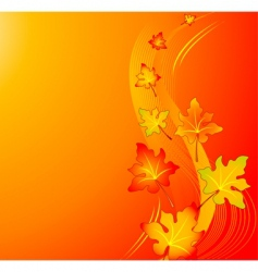 autumn swirl background vector image vector image