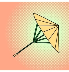 Bamboo umbrella pop art vector