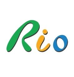 Brazil Flat Rio de Janeiro vector image
