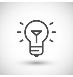 Bulb line icon vector