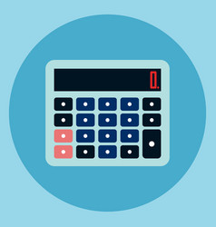 calculator icon accounting device web button vector image