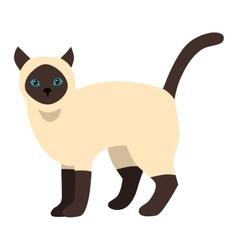 Cartoon siamese cat character vector