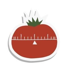 Cartoon tomato flat icon vector image vector image