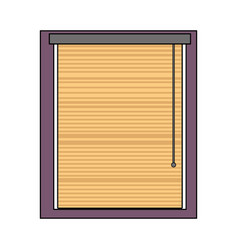 Colorful window with blind curtain close design vector