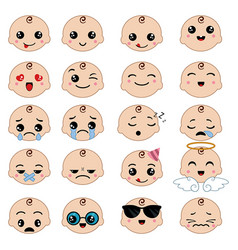 Cute emoticons set cute emoticons set vector