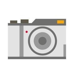 Digital flat photo camera isolated vector image