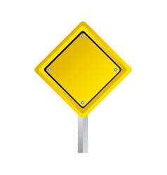 Emblem warning notice in blank vector