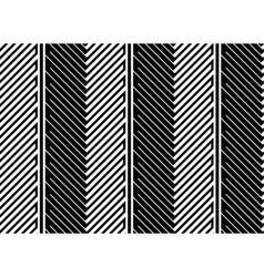 Herringbone Style Geometric Optical Black and vector image vector image
