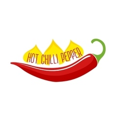 Hot chili pepper pod single object vector