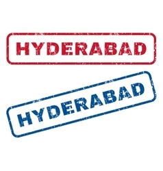 Hyderabad rubber stamps vector
