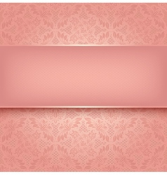 Lace pink vector image