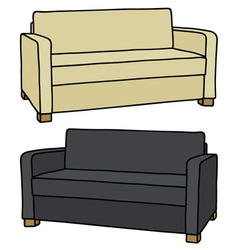Light and dark couches vector image vector image