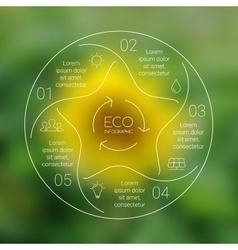 Linear circle eco nature infographic Ecology vector image vector image