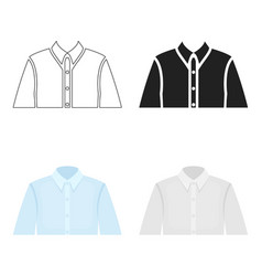 Long sleeve shirt icon of for vector