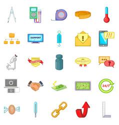 maintenance icons set cartoon style vector image