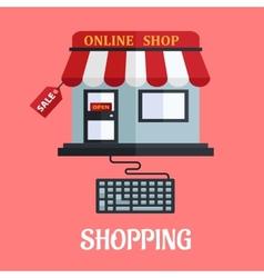 Online shopping flat design vector