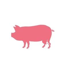 Pork silhouette meal vector