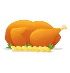 Roast chicken vector