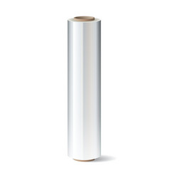 Roll of wrapping plastic stretch film vector