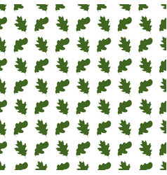 seamless pattern with oak leaves on white vector image vector image
