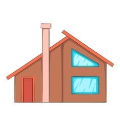 Semi house icon cartoon style vector