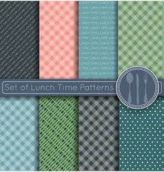 Set of shopping time patterns vector