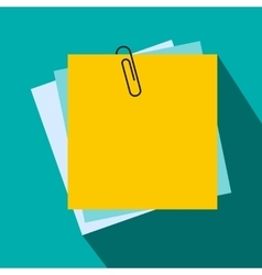 Sheet of paper for notes icon flat style vector image vector image