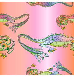silk dragons pattern vector image