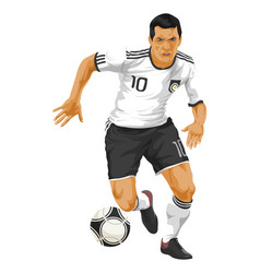 Soccer player in action vector