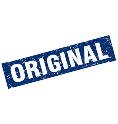 square grunge blue original stamp vector image vector image