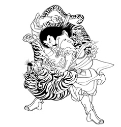Tattoo japanes vector