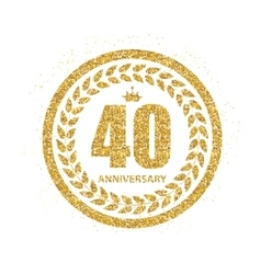 Template logo 40 years anniversary vector