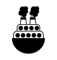 Ship boat toy isolated icon vector