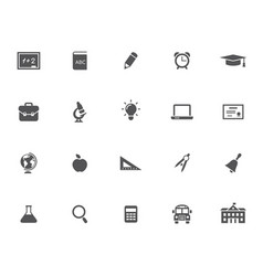 Set of 20 education icons vector