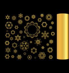 gold ornament se vector image