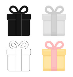Gift icon of for web and vector