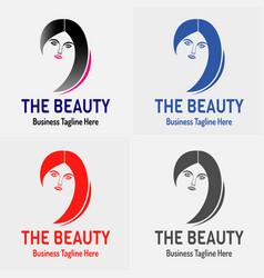 beauty girl logo vector image
