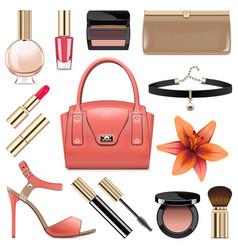 fashion accessories set 9 vector image
