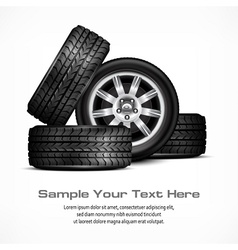 Car wheels vector image