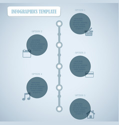 Circles With Shadows Infographics Template vector image